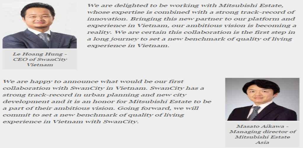 SwanCity bắt tay với Mitsubishi Estate phát triển siêu phẩm tại Đảo Đại Phước