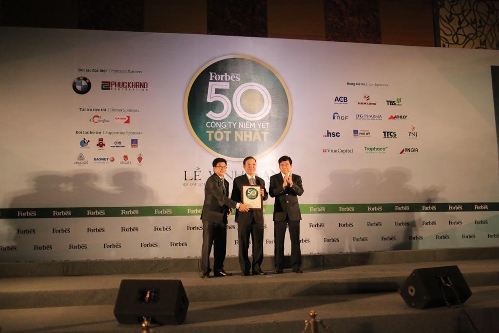 CII được Forbes vinh danh Top 50 DN niêm yết tốt nhất Việt Nam lần thứ 4