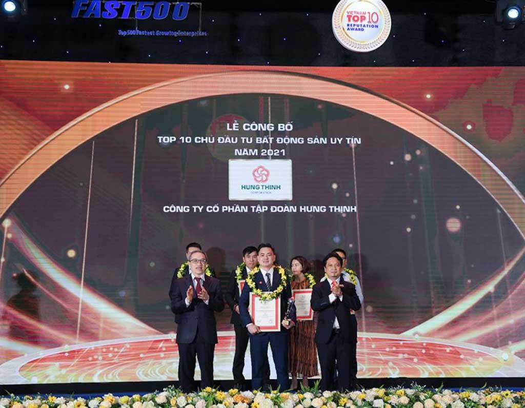 Tập đoàn Hưng Thịnh đạt được giải thưởng gì trong năm 2021?