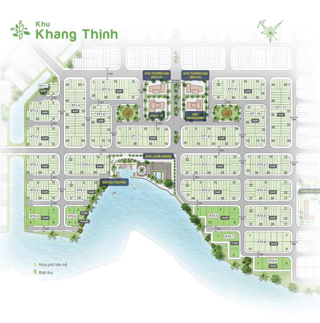 mat bang khu khang thinh bien hoa new city