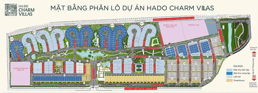 mat bang tong the du an hado charm villas