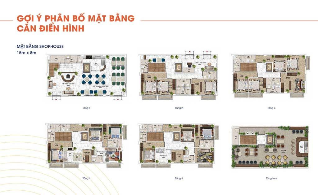 mat bang shophouse the center dien tich 15x8m