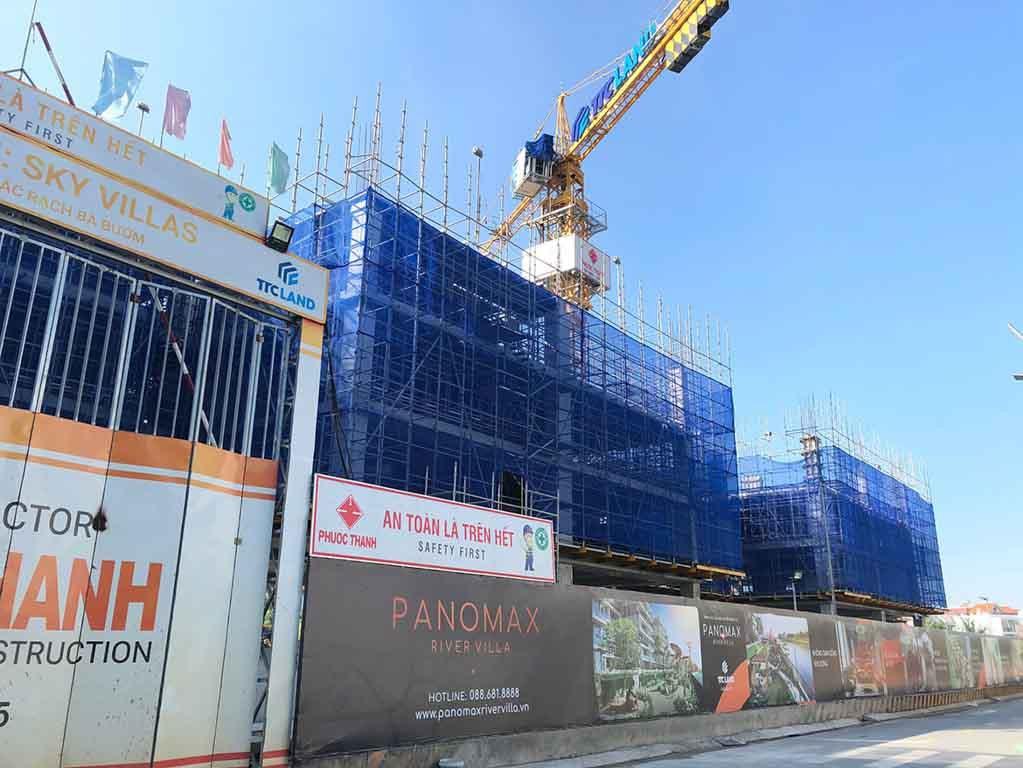 Tiến độ xây dựng dự án Panomax River Villa cập nhật năm 2021