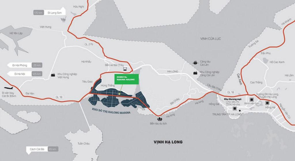 Vị trí dự án Hạ Long Marina ở đâu?