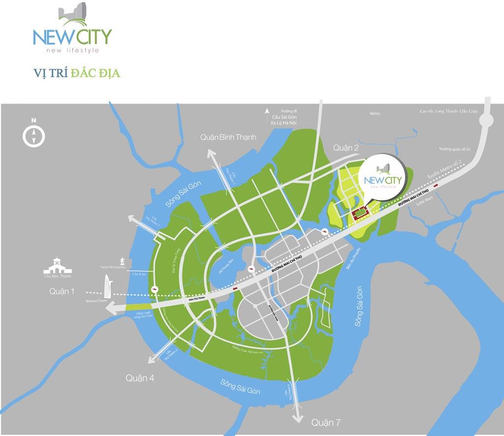 Vị trí dự án New City ở đâu?