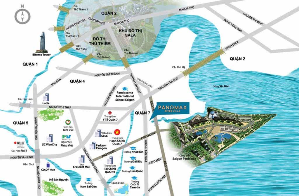 Vị trí dự án Panomax River Villa ở đâu?