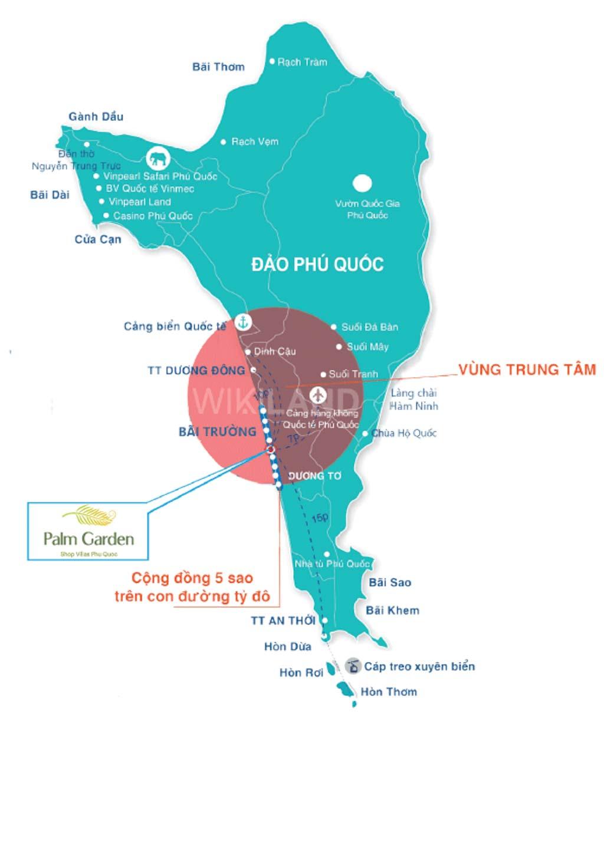 Vị trí dự án Palm Garden Phú Quốc ở đâu?