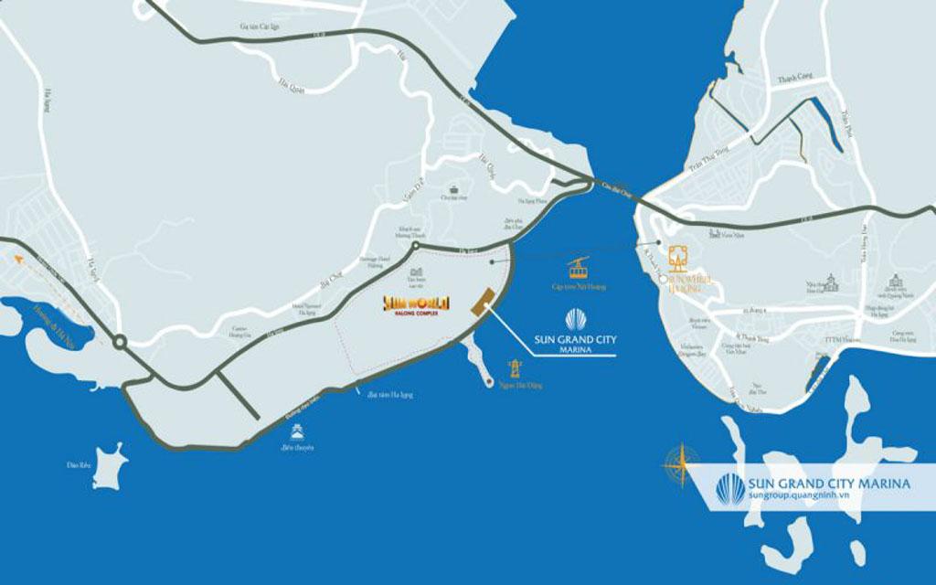 Vị trí dự án Sun Grand Marina Town Hạ Long ở đâu?