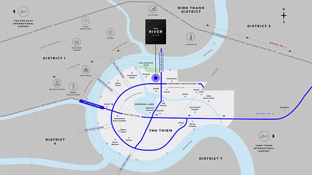 Vị trí dự án The River Thủ Thiêm ở đâu? Có gì tiềm năng?