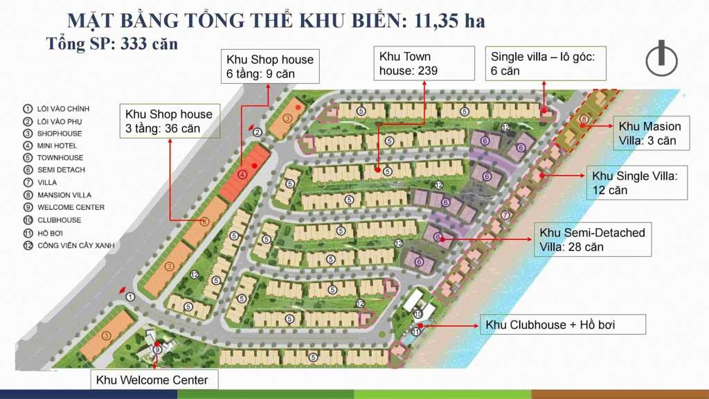 mat bang tong the happy beach villas ho tram