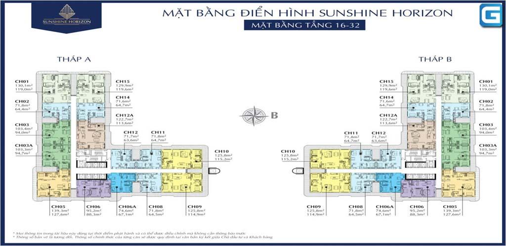 mat bang tang 16 - 32 sunshine horizon