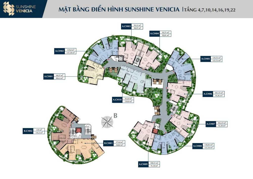 mat bang tang 4 sunshine venicia