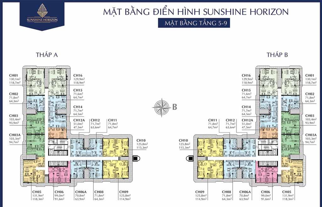 mat bang tang 5 - 9 sunshine horizon