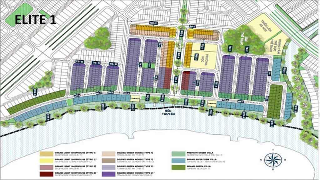 mat bang the elite 1 aqua city