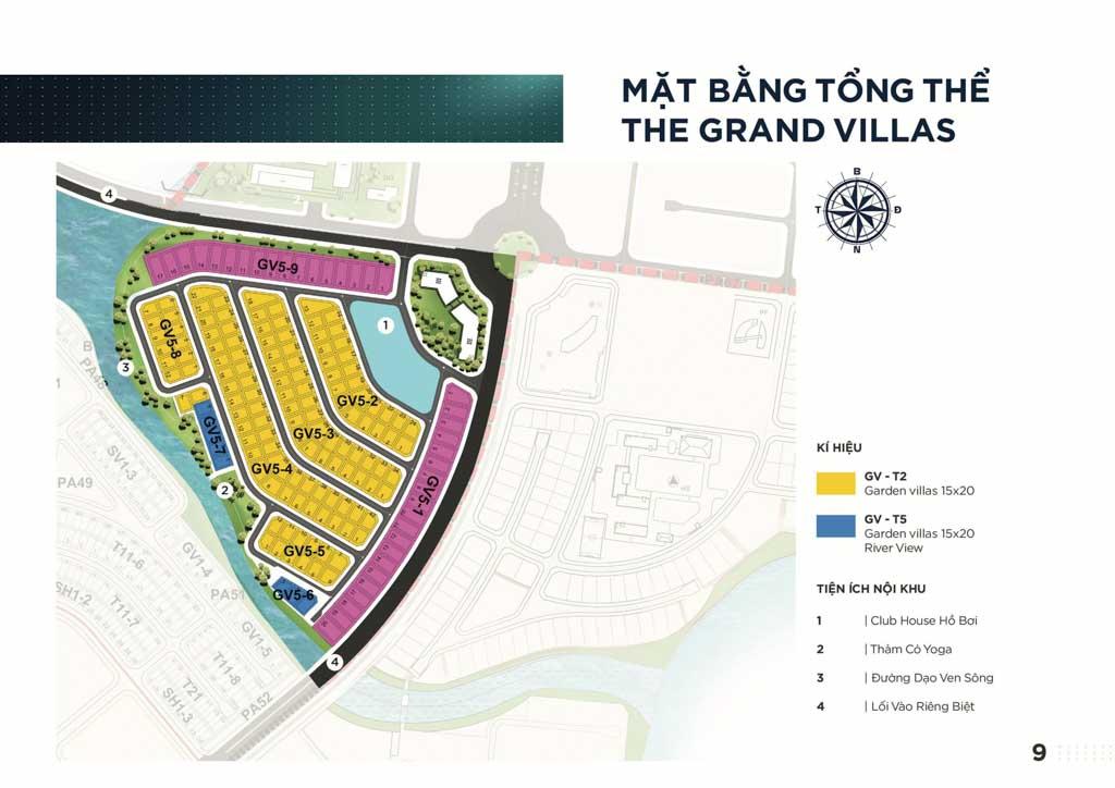 mat bang tong the the grand villas aqua city