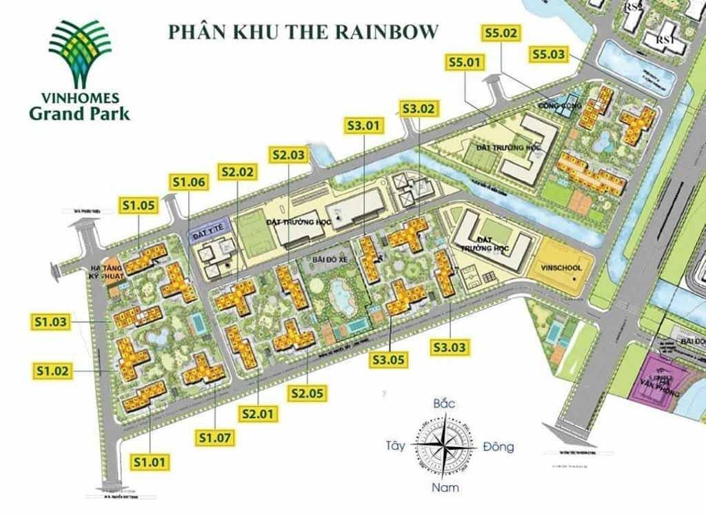 mat bang tong the the rainbown