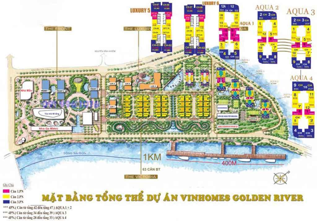 mat bang vinhomes golden river