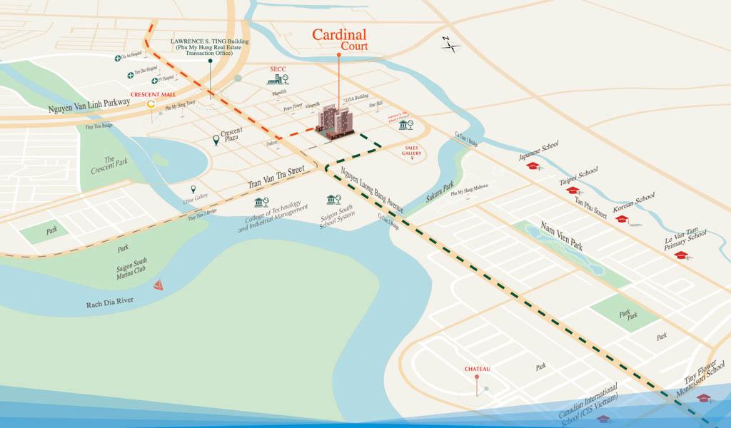 Vị trí Cardinal Court ở đâu? Có gì tiềm năng?