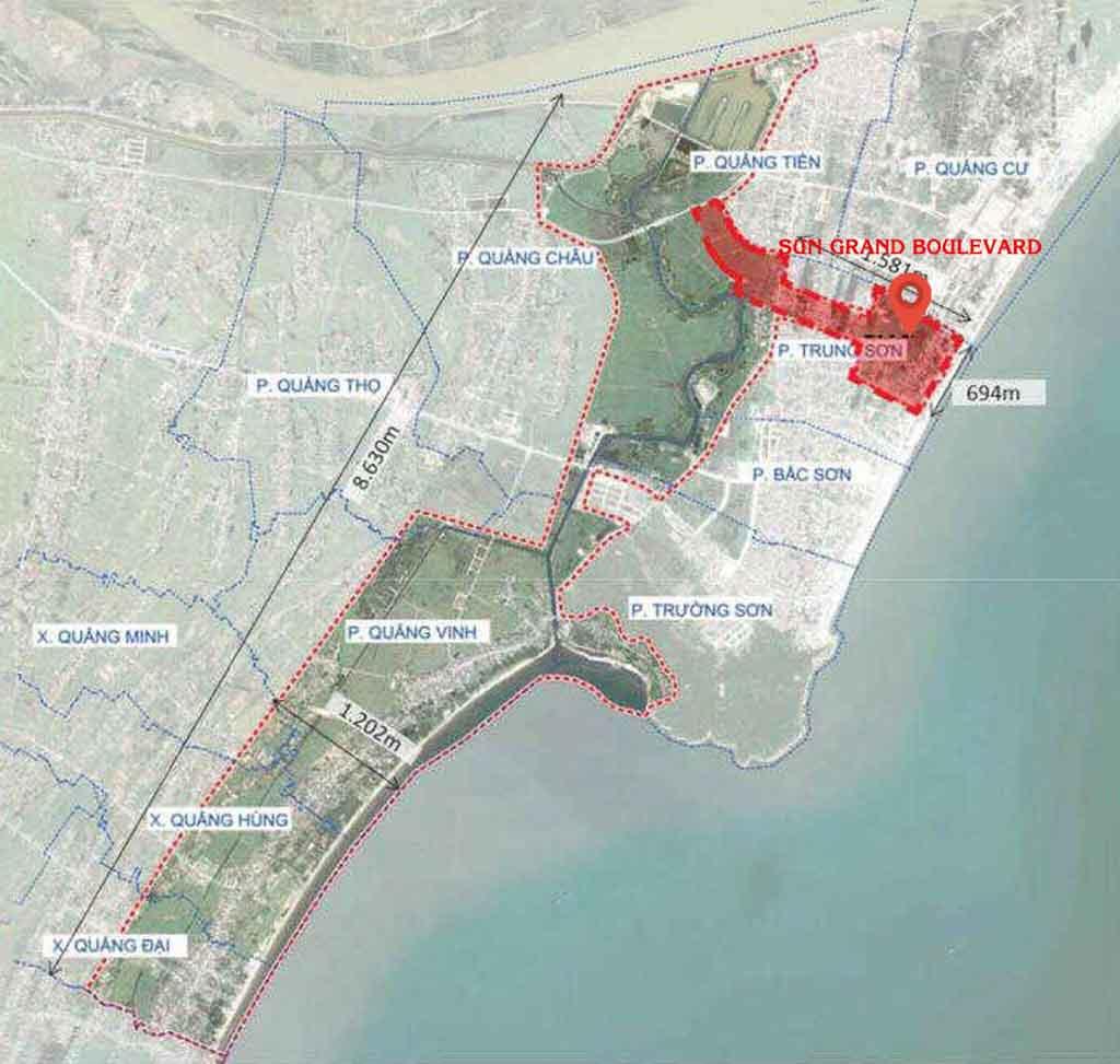 Vị trí Sun Grand Boulevard Sầm Sơn ở đâu? Có gì tiềm năng?