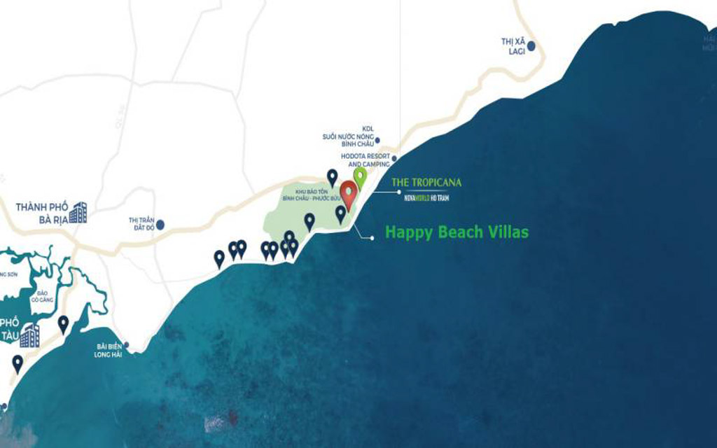 vi tri happy beach villas