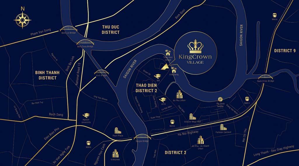 Vị trí King Crown Village ở đâu? Có gì tiềm năng?