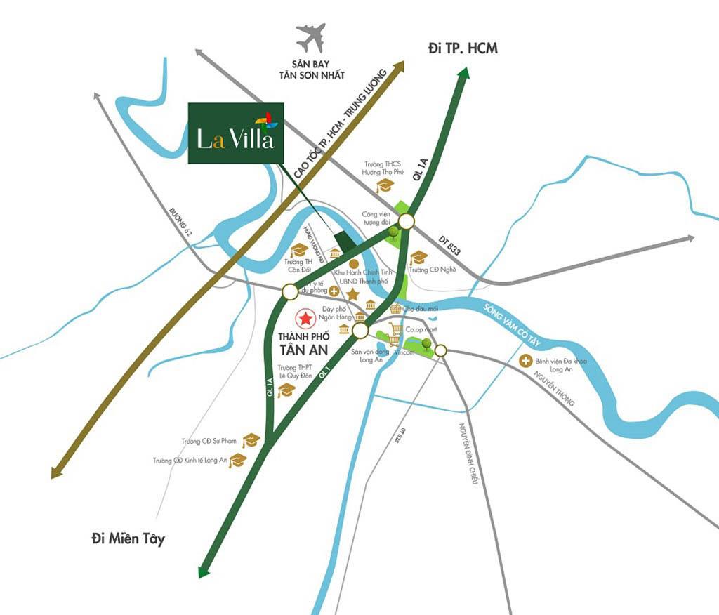 vi tri la villa green city