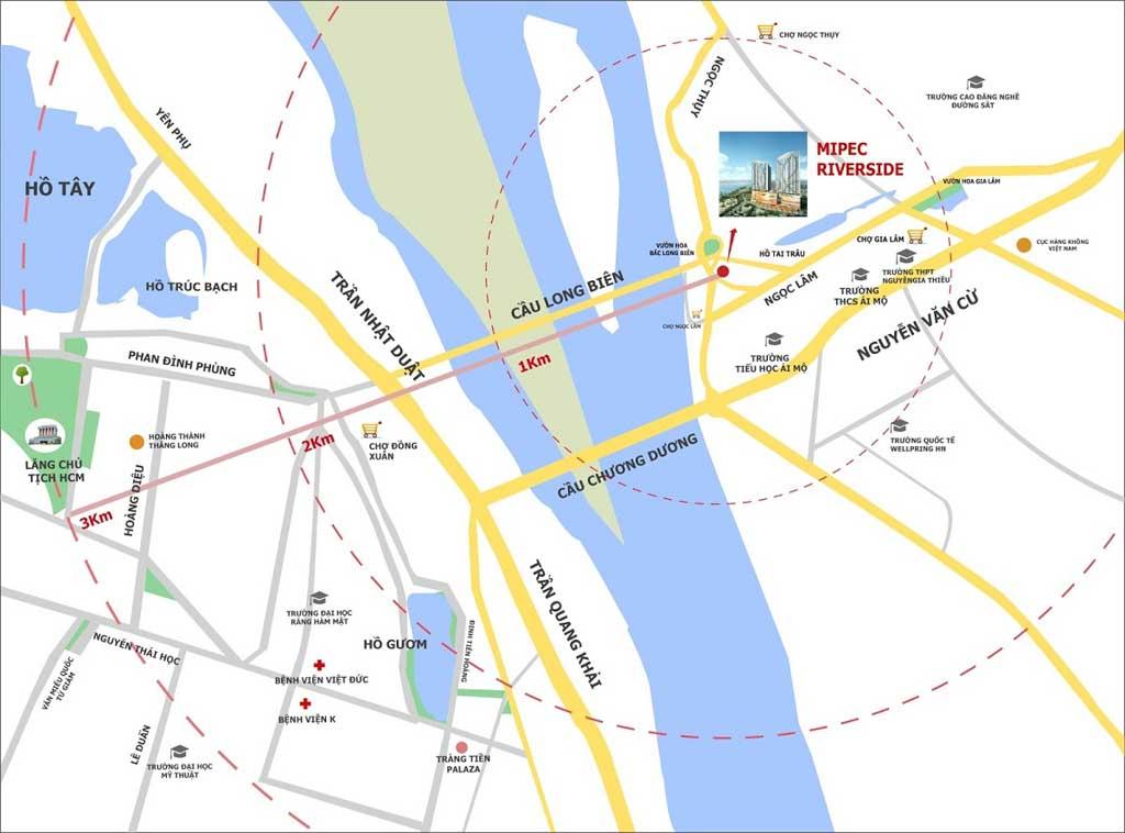 Vị trí Mipec Riverside ở đâu? Có gì tiềm năng?