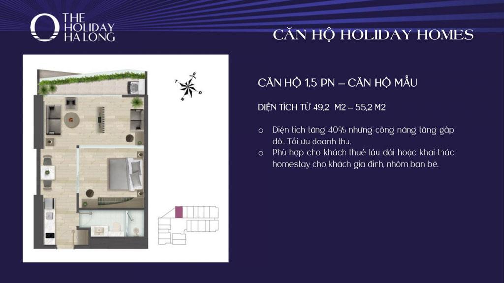 thiet ke can ho 1.5 phong ngu the holiday ha long