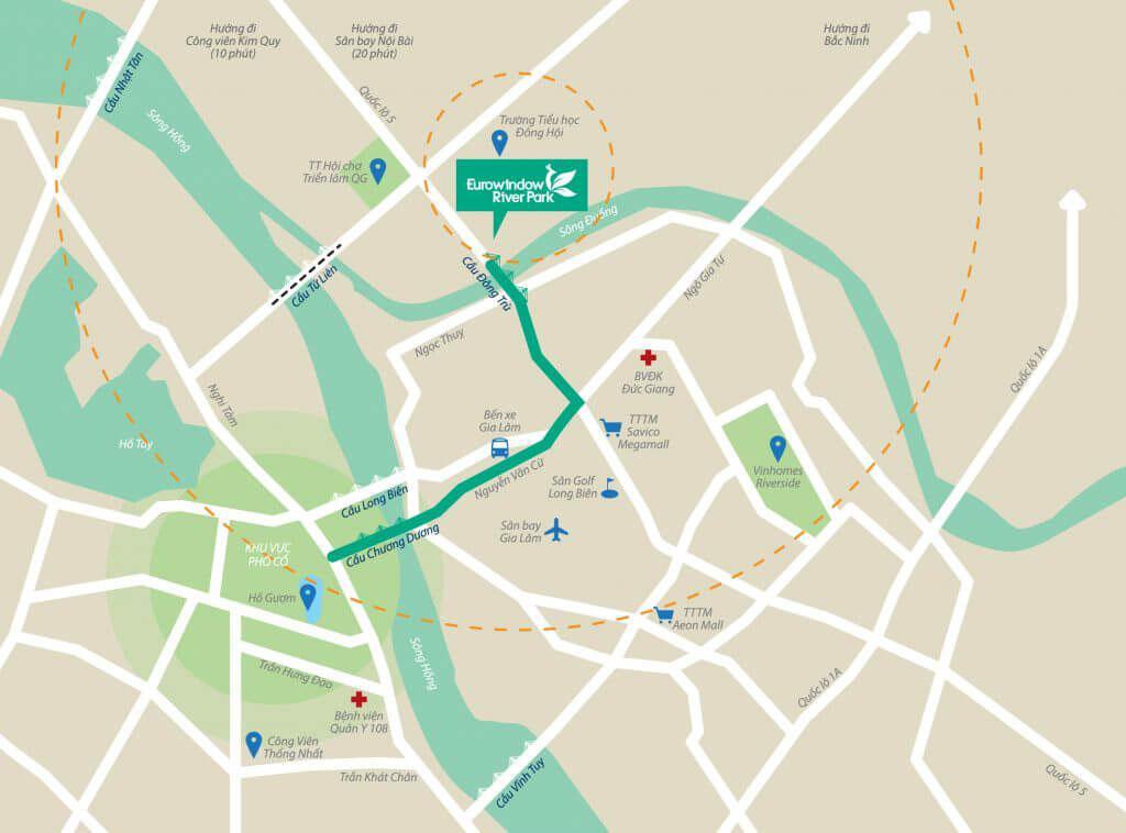 Vị trí Eurowindow River Park ở đâu? Có gì tiềm năng?