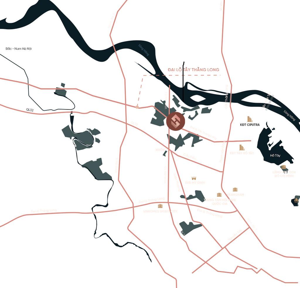 Vị trí Sunshine Capital Tây Thăng Long ở đâu? Có gì tiềm năng?