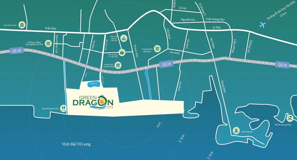 Vị trí Green Dragon City ở đâu? Có gì tiềm năng?