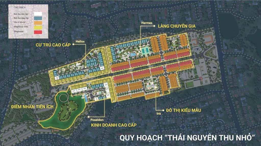mat bang crown villas thai nguyen