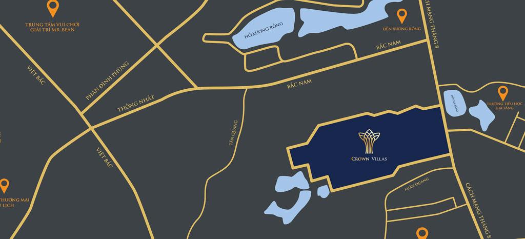 vi tri crown villas thai nguyen