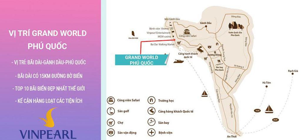 Vị trí Grand World Phú Quốc ở đâu?