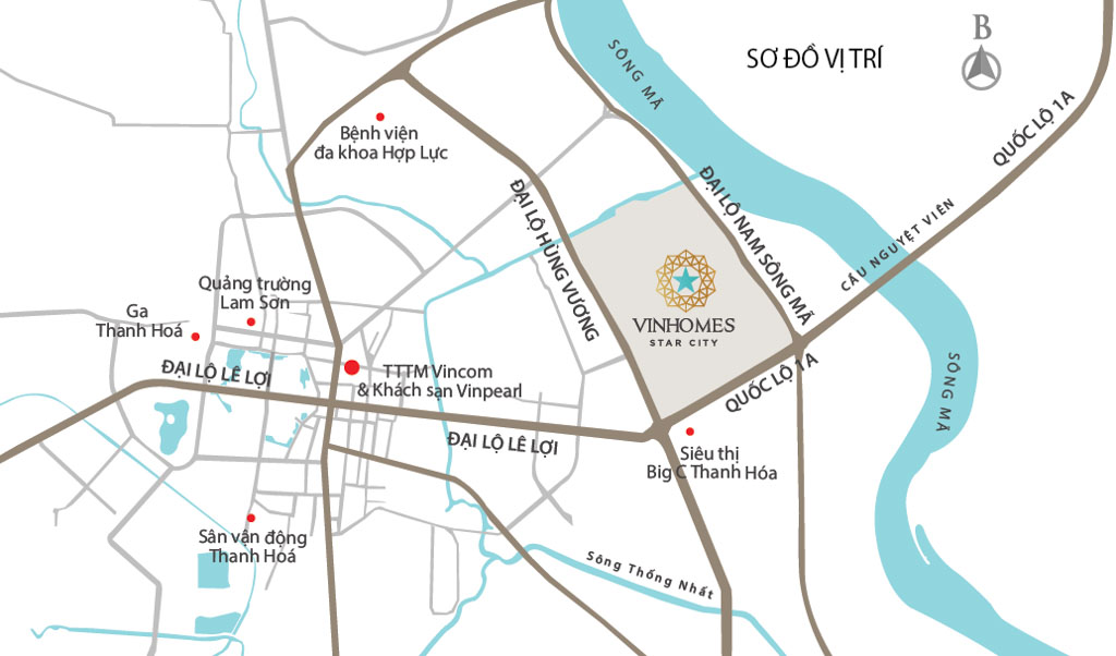 Vị trí Vinhomes Star City ở đâu?