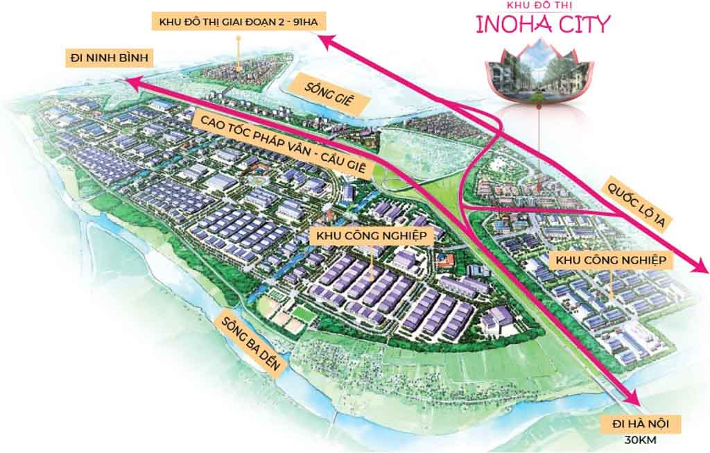 Vị trí Inoha City Phú Xuyên ở đâu?