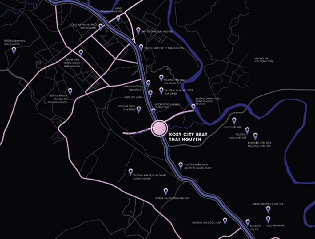 Vị trí Kosy City Beat Thái Nguyên ở đâu?