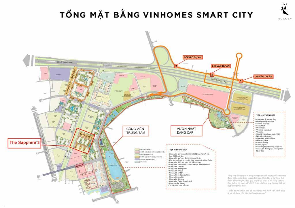 vi tri sapphire 3 vinhomes smart city