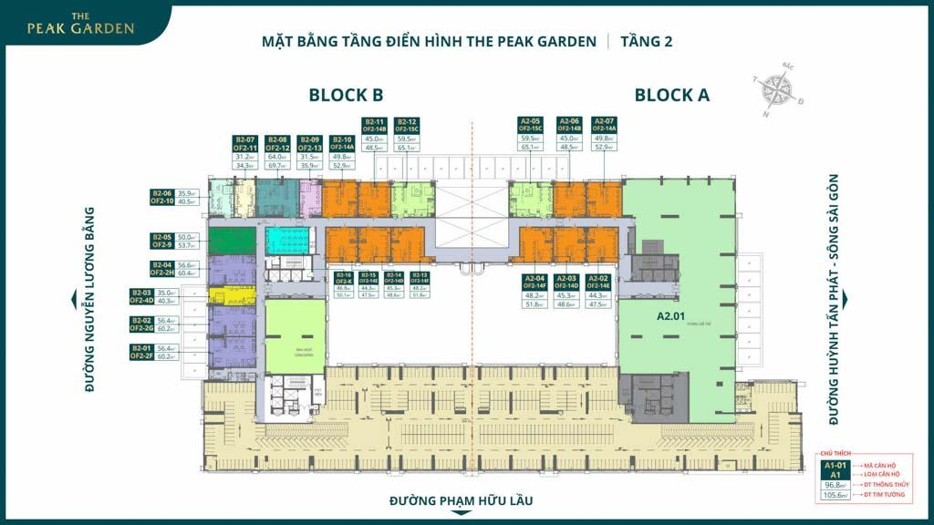 mat bang tang 2 the peak garden