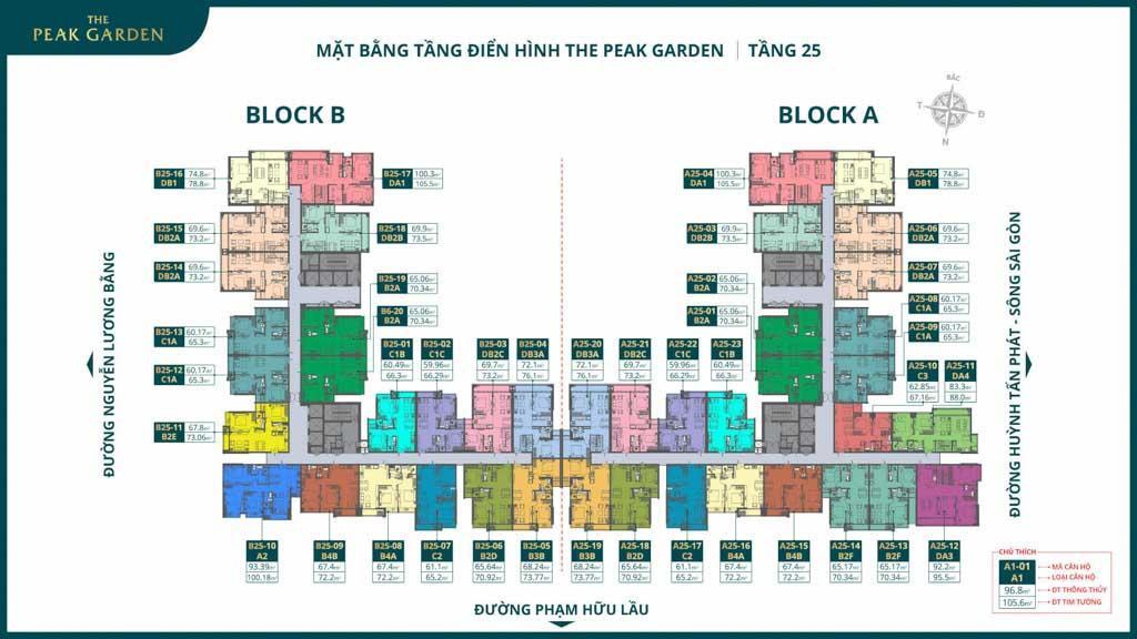 mat bang tang 25 the peak garden
