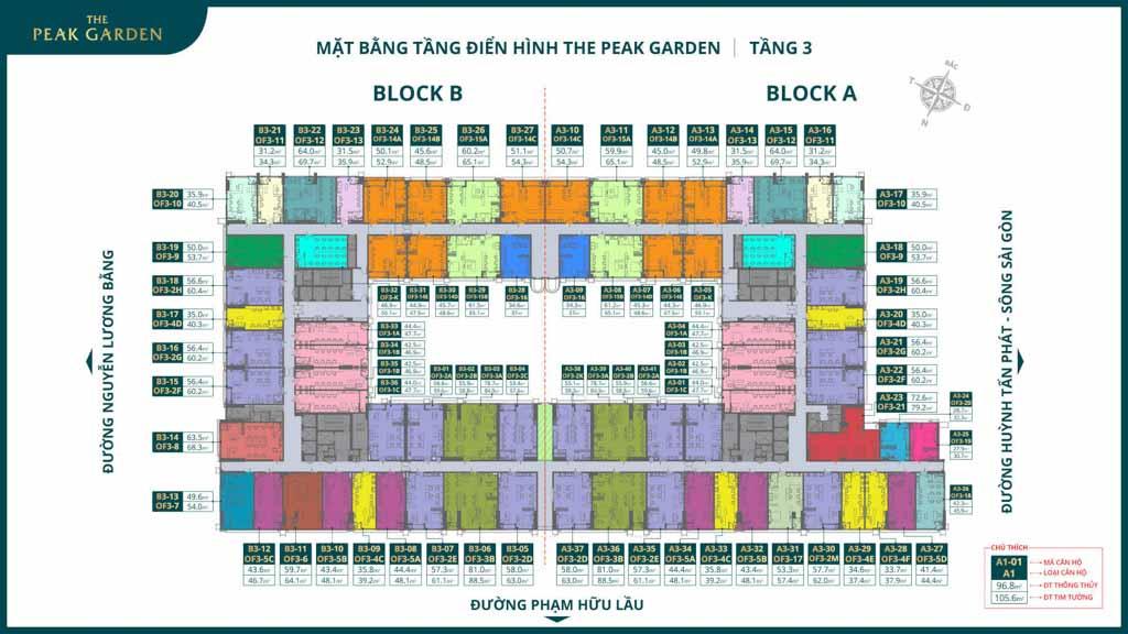 mat bang tang 3 the peak garden