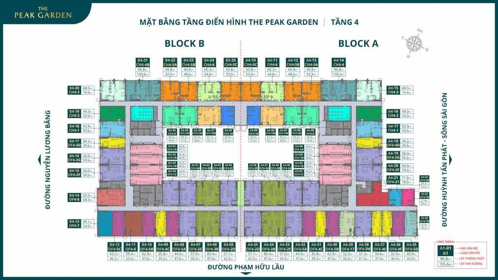 mat bang tang 4 the peak garden