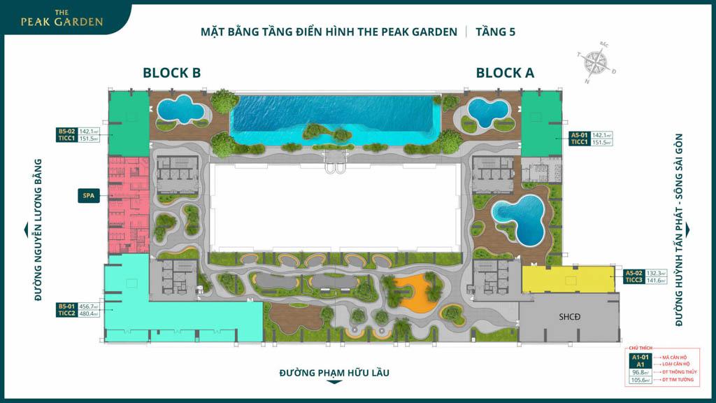 mat bang tang 5 the peak garden