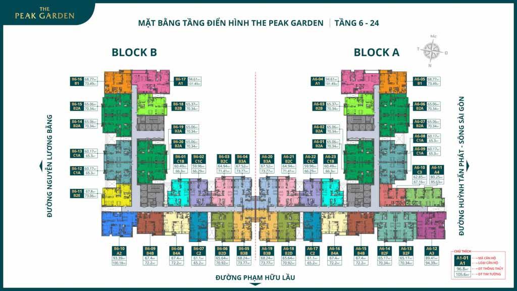 mat bang tang 6 the peak garden