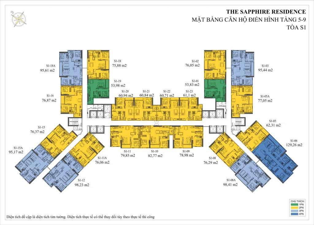 mat bang the sapphire residence
