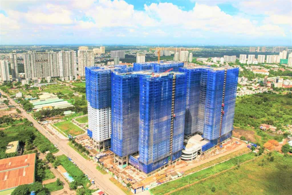Tiến độ Q7 Saigon Riverside cập nhật 2021