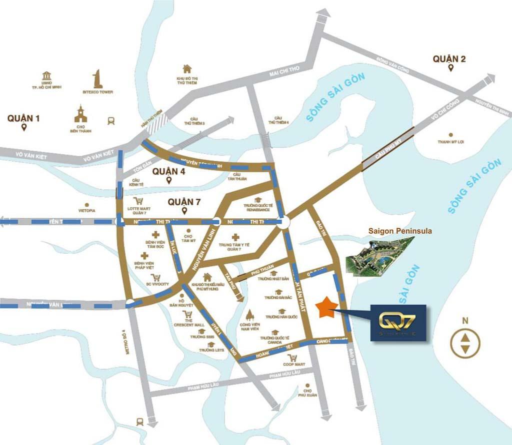 Vị trí Q7 Saigon Riverside ở đâu? Tiềm năng ra sao?
