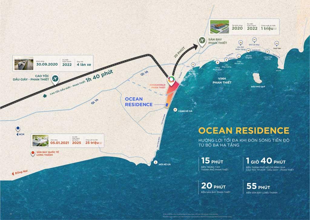 Vị trí Ocean Residence Novaworld Phan Thiết ở đâu?